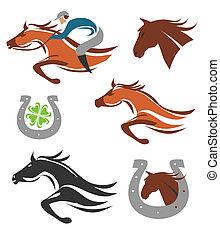 iconos de carreras de caballos