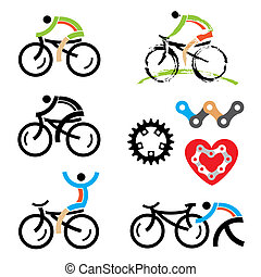 Iconos de ciclismo