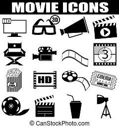 iconos de cine listos