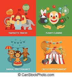 Iconos de circo listos