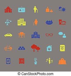 iconos de colores de la comunidad de retiro