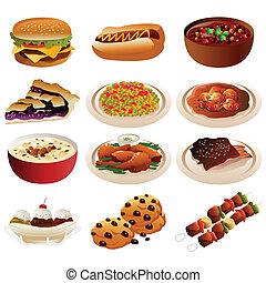 iconos de comida americana