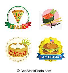 iconos de comida gourmet internacional