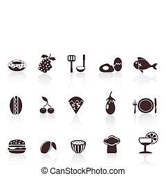 iconos de comida negra