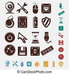 iconos de computadora listos