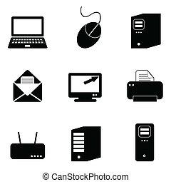 iconos de computadora y tecnología