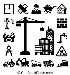 iconos de construcción listos
