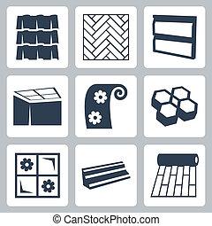 Iconos de construcción Vector establecidos