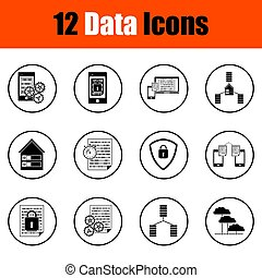 iconos de datos listos