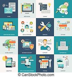 Iconos de desarrollo website