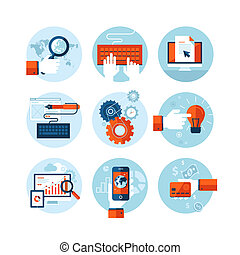 iconos de diseño plano para diseño web