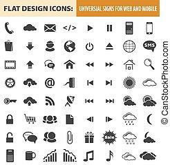 Iconos de diseño web y móvil, elementos, botones
