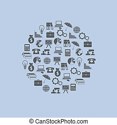 iconos de economía en círculo