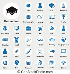 iconos de educación establecidos