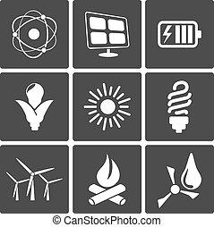 iconos de energía