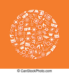 iconos de energía en círculo