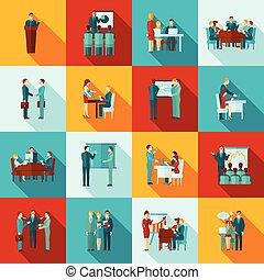 iconos de entrenamiento de negocios