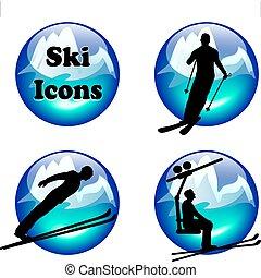 iconos de esquí