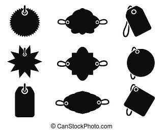 iconos de etiqueta negra
