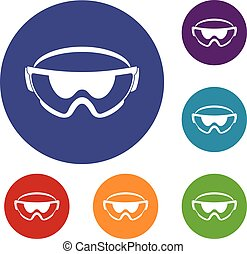 iconos de gafas de seguridad
