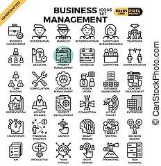 iconos de gestión de negocios