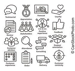 iconos de gestión de negocios en línea. Paquete 26.