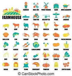iconos de granja listos