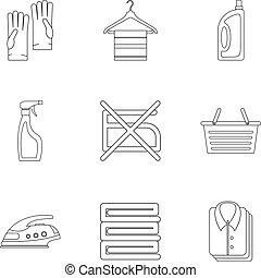 Iconos de hierro establecidos, estilo de esquema