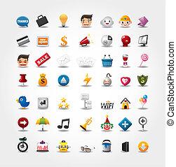 Iconos de Internet, iconos de la web, iconos de la web, iconos