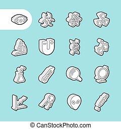 Iconos de línea 3D