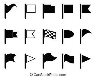 iconos de la bandera negra
