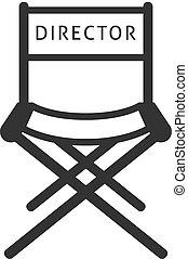 iconos de la BW - silla de director de cine