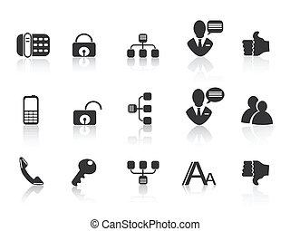 iconos de la comunicación negra