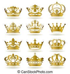 iconos de la corona de oro