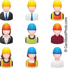 iconos de la gente: construcción
