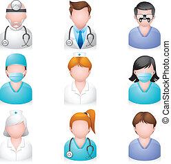 iconos de la gente, médicos