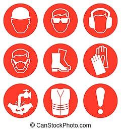 iconos de la industria de la construcción
