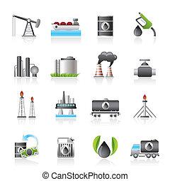 iconos de la industria petrolera y del petróleo
