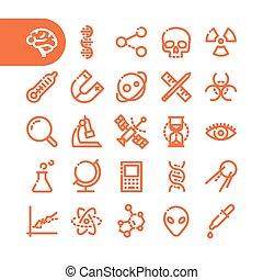 iconos de la línea gorda