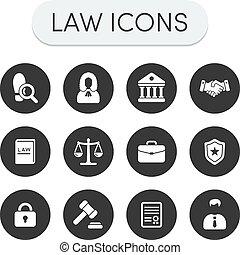iconos de la ley