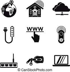 Iconos de la red casera, estilo simple
