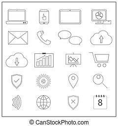 iconos de la red de computadoras