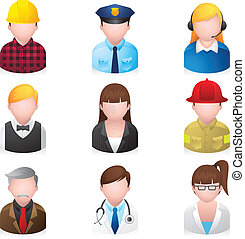 iconos de la red - gente profesional 2