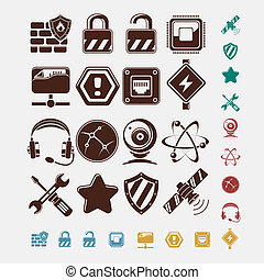 iconos de la red listos