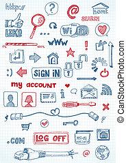 iconos de la red social
