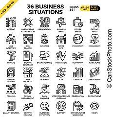 iconos de la situación de negocios