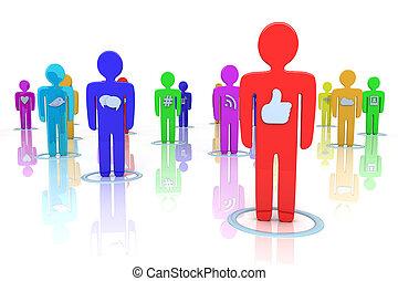 iconos de las redes sociales