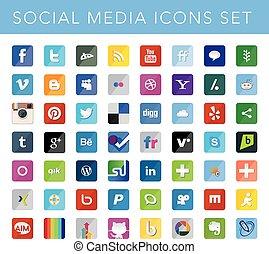 iconos de las redes sociales establecidos