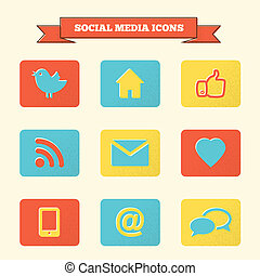 iconos de las redes sociales establecidos.