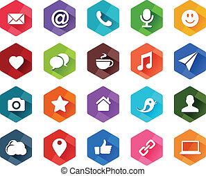 iconos de las redes sociales planos